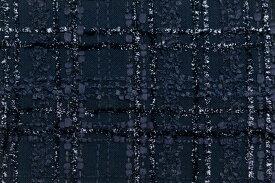 イギリス製【LINTON/リントン】シャネルツィードコットン・ポリアミドファンシーツィード50cm単位 生地・布