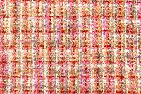 イギリス製ツイード輸入生地【LINTONEXCLUSIVELINE/リントン・エクスクルーシブ・ライン】シャネルツィードコットン・モヘア・ブレンドファンシーツィード50cm単位生地・布