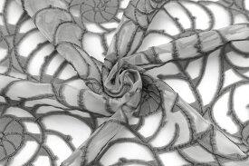 イタリア製 輸入生地【G.A.社】シルク・アセテートジャカード・花柄10cm単位 生地・布