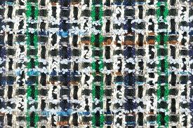 イギリス製 ツイード 輸入 生地【LINTON EXCLUSIVE LINE/リントン・エクスクルーシブ・ライン】シャネルツィードウール・コットン・ブレンドファンシーツィード10cm単位 生地・布