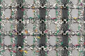 イギリス製 ツイード 輸入生地【LINTON EXCLUSIVE LINE/リントン・エクスクルーシブ・ライン】シャネルツィードコットン・ブレンドファンシーツィード【幅32cm】長さ10cm単位 生地・布
