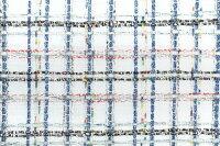 イギリス製ツイード生地【LINTONEXCLUSIVELINE/リントン・エクスクルーシブ・ライン】シャネルツィードコットン・リネン・ブレンドファンシーツィード50cm単位生地・布