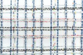イギリス製 ツイード 輸入生地【LINTON EXCLUSIVE LINE/リントン・エクスクルーシブ・ライン】シャネルツィードコットン・リネン・ブレンドファンシーツィード10cm単位 生地・布