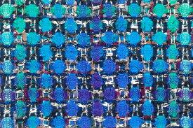 イギリス製 ツイード 輸入生地【LINTON EXCLUSIVE LINE/リントン・エクスクルーシブ・ライン】シャネルツィードウール・ブレンドファンシーツィード10cm単位 生地・布