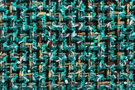 イギリス製 ツイード 輸入生地【LINTON EXCLUSIVE LINE/リントン・エクスクルーシブ・ライン】シャネルツィードウール・コットン・ブレンドファンシーツィード10cm単位 生地・布