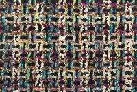 イギリス製ツイード輸入生地【LINTONEXCLUSIVELINE/リントン・エクスクルーシブ・ライン】シャネルツイードウール・コットン・アルパカブレンドファンシーツイード生地10cm単位生地・布