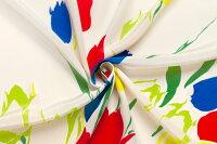イタリア製【VALENTINO/バレンチノ】ピュアシルク・デシンフラワー・プリント1パネル1.25m単位生地・布