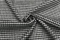 イタリア製輸入生地【C社】ウール・カシミア・メタルハウンドトゥース・ツイード芯地付2.0m単位生地・布