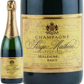 ワイン スパークリングワイン 泡 シャンパン 2002年 セルジュ・マチュー ブリュット・ミレジム / セルジュ・マチュー フランス シャンパーニュ 750ml