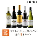 ワイン ワインセット ベストバリュースペインワイン赤白5本セット SP8-2 [750ml x 5]