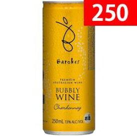 ワイン スパークリング 白 発泡 プレミアム・バブリィ・シャルドネ / バロークス オーストラリア / 250ml