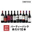 ワイン ワインセット パーティーパック 赤だけ10本 AQ12-1[750mlx10]【送料無料】