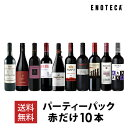 ワイン ワインセット パーティーパック 赤だけ10本 AQ3-1 [750ml x 10]【送料無料】赤ワイン