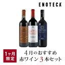 ワイン ワインセット 4月のおすすめ赤ワイン3本セット KK4-1 [750ml x 3]