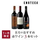 ワイン ワインセット 8月のおすすめ赤ワイン3本セット KK8-1 [750ml x 3]