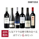 ワイン ワインセット 人気ブドウ品種で飲み比べる赤ワイン6本セット VB4-1 [750ml x 6] 送料無料