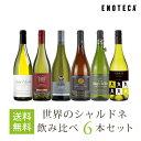 【4/21以降出荷】ワイン ワインセット 世界のシャルドネ飲み比べ6本セット WW4-1 [750ml x 6] 送料無料