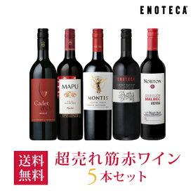 【1/16以降出荷】ワイン ワインセット 超売れ筋赤ワイン5本セット RC1-1 [750ml x 5] 送料無料