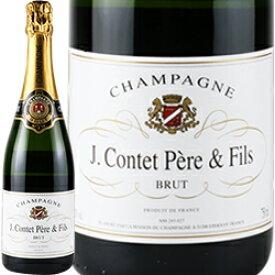ワイン スパークリング シャンパン 白 発泡 [NV]J.コンテ ペール&フィス・ブリュット / J・コンテ ペール&フィス フランス シャンパーニュ / 750ml