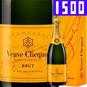 ワイン スパークリング シャンパン ヴーヴ・クリコ イエロー・ラベル・ブリュット [マグナムボトル] [ボックス付] / ヴーヴ・クリコ フランス シャンパーニュ / 1500ml / スパークリング
