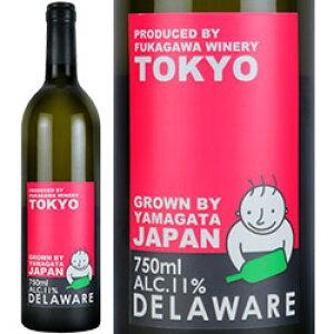 ワイン 白ワイン 2019年 山形 デラウェア / 深川ワイナリー 日本 山形県 750ml