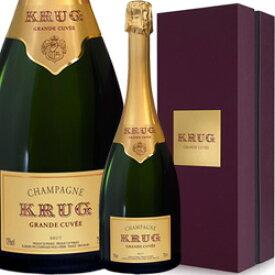 ワイン スパークリング シャンパン 白 発泡 クリュッグ・グランド・キュヴェ [ボックス付] / フランス シャンパーニュ/ 750ml