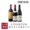 ワイン ワインセット 9月のおすすめ赤ワイン3本セット KK9-1 [750ml x 3]