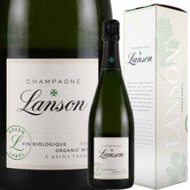 ワイン スパークリング シャンパン 白 発泡 [NV] ランソン・グリーンラベル・ブリュット・オーガニック [ボックス付] / ランソン フランス シャンパーニュ / 750ml
