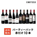 【6/26以降出荷】ワイン ワインセット パーティーパック 赤だけ10本 AQ6-2 [750ml x 10] 送料無料