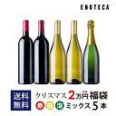 クリスマス福袋2万円(赤白泡ミックス5本)CF12-2[750ml x 5] 送料無料