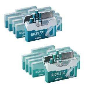 NICOLESS ニコレス メンソール ミント 1カートン (10箱入り) 加熱式タバコ 加熱式たばこ ニコチン0 タール たばこ風 電子タバコ 電子たばこ 禁煙グッズ 互換機 スタイル IQOS互換機