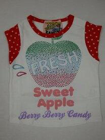 ★SALE★【BERRY BERRY CANDY】ベリーベリー   キャンディーアップルTシャツ★    ホワイト