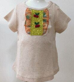 FORTY ONE/フォーティーワン半袖TEEピンクベージュ ワッフル地  半袖Tシャツ 95cm
