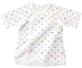 2d8e53df6a912  赤ちゃんの城   日本製 ベビーパステル 短肌着 総柄 ホワイト