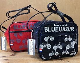 ++BLUEU AZUR++ ブルーアズールジュニアショルダー 幼稚園バッグ 通園バッグ自転車柄/総柄/ネームポケット付/レッド/コン