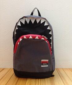 【あす楽】バックパック【SKAPE】サメ×リュック/かっこいいシャーク/グレー/男の子遠足/通園/通学