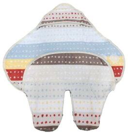 【出産お祝い】FICELLEフィセル NAOMI ITO/POCHO 綿毛布 足つきアフガン/かわいい/あたたか/ふんわり冬のおでかけ