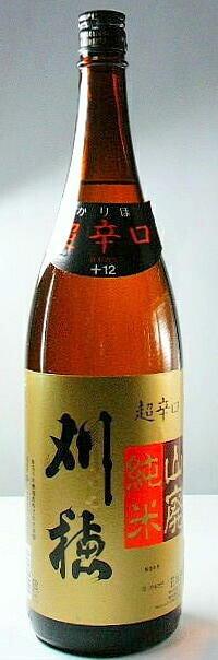 【秋田の地酒】「刈穂 山廃純米酒 超辛口」 1.8l