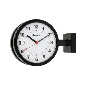 【ポイント10倍中!今だけ】ダルトン ダブルフェイス クロック ブラック 黒 両面時計 時計 掛け置き時計 壁時計 アナログ Dulton S624-659BK