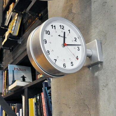 【ポイント5倍中!今だけ】ダルトンダブルフェイスクロック3色ブラック/ホワイト/シルバー黒/白/銀両面時計時計掛け置き時計壁時計アナログDultonS624-659BK