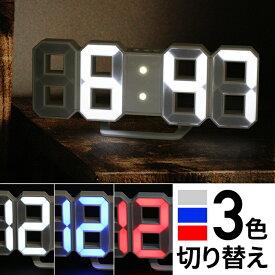 正規品 デジタル時計 TriClock トリクロック 寝室用 シンプル時計 おしゃれ リビング用 北欧風 子ども部屋用 壁掛け時計 置き時計 LED時計(日本ポステック) 暗闇に数字が浮かぶ! 寝室に最適なスタイリッシュなLEDデジタル時計