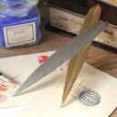 笹の葉 ペーパーナイフ シルバー 1本 (シルバー・ゴールド) レターオープナー 笹 ステンレス製 燕振興工業【代引き…