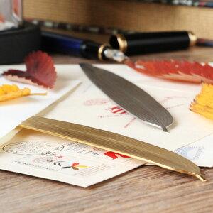 笹の葉 ペーパーナイフ ゴールド 1本(ゴールド・シルバー) レターオープナー 笹 ステンレス製 葉トラリー 燕振興工業