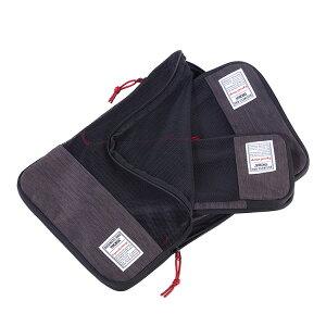 TROIKA トロイカ トラベルポーチ 3点セット トラベルバッグ ビジネスパッキングキューブス TR-BBG56/GY アレンジケース パッキング 衣類収納 ビジネスバッグ