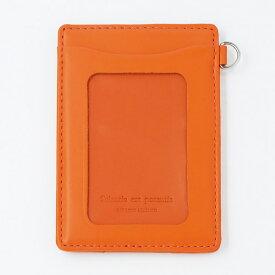 【メール便220円に変更可】ノワール単パスケース NSL-1801OR オレンジ