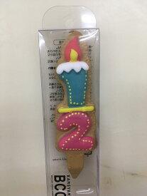 クッキー形の数字のローゾク、ハーフバースデー、誕生日、サプライズ、お菓子工房アントレ
