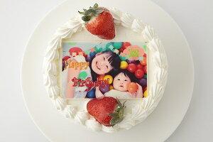 写真プレート付きデコレーション 5号サイズ 写真ケーキ 誕生日ケーキ バースデー ケーキ ホールケーキ ショートケーキ いちご フルーツ 子供 大人 お取り寄せスイーツ サプライズ 記念日プ