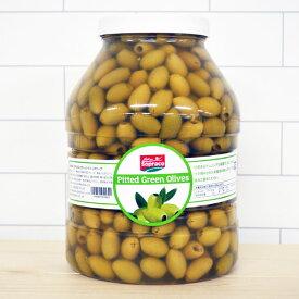 【セール】 オリーブ SOPRACO ピティッドグリーンオリーブ for pro 3830g Tunisia PRODUCT チュニジアプロダクト オリーブの実 食用 種なし 種抜き パーティ おつまみ チュニジア 美味しい おしゃれ ギフト 大容量 お得