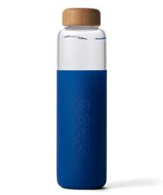 SOMA グラスウォーターボトル サファイア 500ml 水筒 グラスボトル アウトドア ガラスボトル シリコン製 耐熱 サスティナブル サステナブル エコ 環境【8.18CP】【3.4OCP】 おうちキャンプ