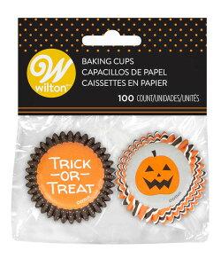Wilton(ウィルトン)ハロウィンストライプ&ドットミニカップ100枚入り | ハロウィン Halloween カップケーキ マフィン カップ ケーキデコレーション 誕生日 製菓 食品 製菓材料